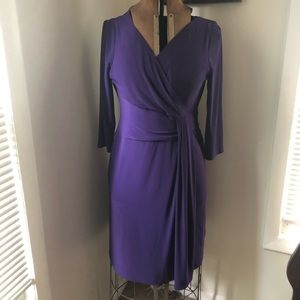 Tahari Arthur Levine Cocktail Dress 10P Purple